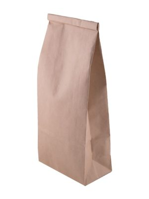 1 pound poly lined kraft tin tie food safe paper bag top