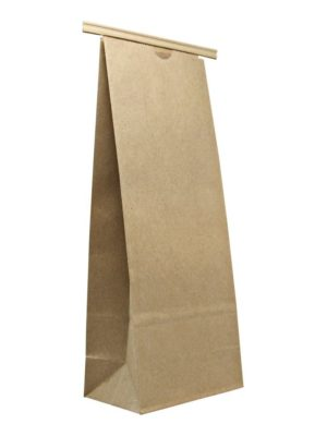 2 lb Compostable Paper Bag with Tin Tie Kraft - PBFY