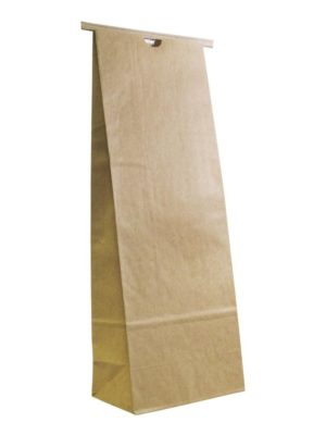5 lb Compostable Paper Bag with Tin Tie Kraft - PBFY