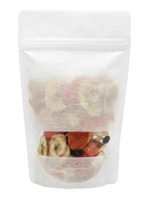 4 oz Rice Paper Stand Up Pouch White - PBFY