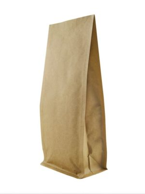 16 oz Block Bottom Side Gusseted Bag Kraft - PBFY
