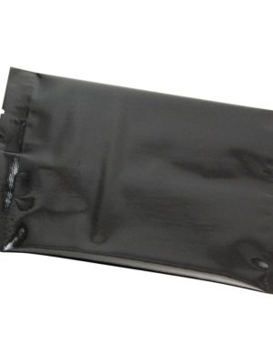 2 oz Metallized Flat Pouch Black - PBFY