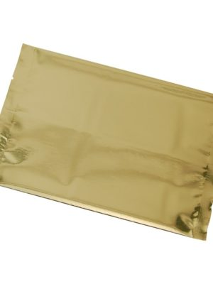 16 oz Metallized Flat Pouch Gold - PBFY