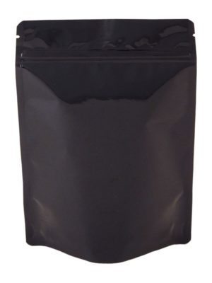 4 oz Metallized Stand Up Pouch Black - PBFY