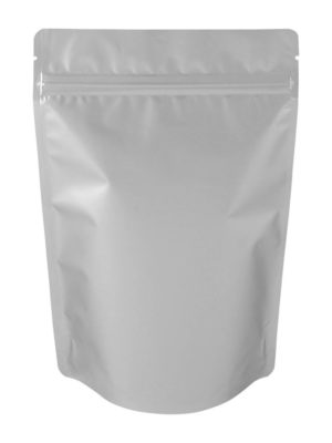 8 oz Metallized Stand Up Pouch Matte Silver - PBFY