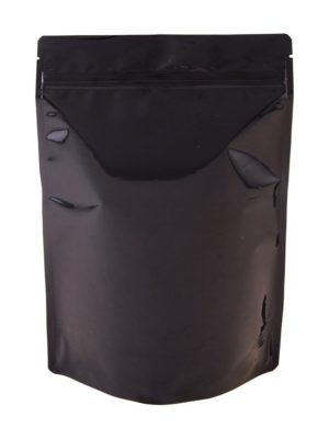 16 oz Metallized Stand Up Pouch Black - PBFY