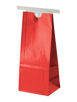 1/2 lb Paper Bag with Tin Tie Red - PBFY