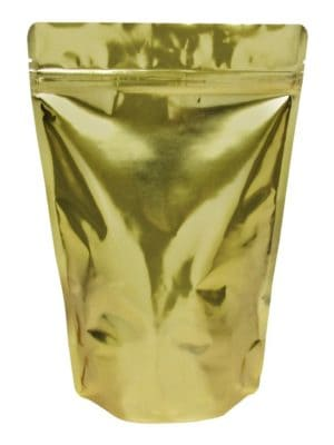 12 oz Stand Up Pouch Clear/Gold - PBFY