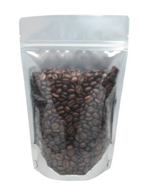 8 oz Stand Up Pouch Clear/Black - PBFY