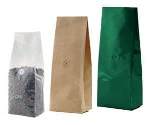 coffee bags clear kraft & custom