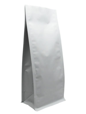 16 oz Block Bottom Side Gusseted Bag Matte White - PBFY