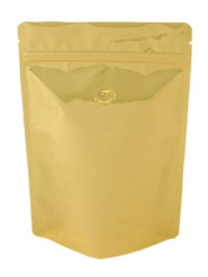 Metallized Stand Up Pouch - Gold (Valved) - PBFY