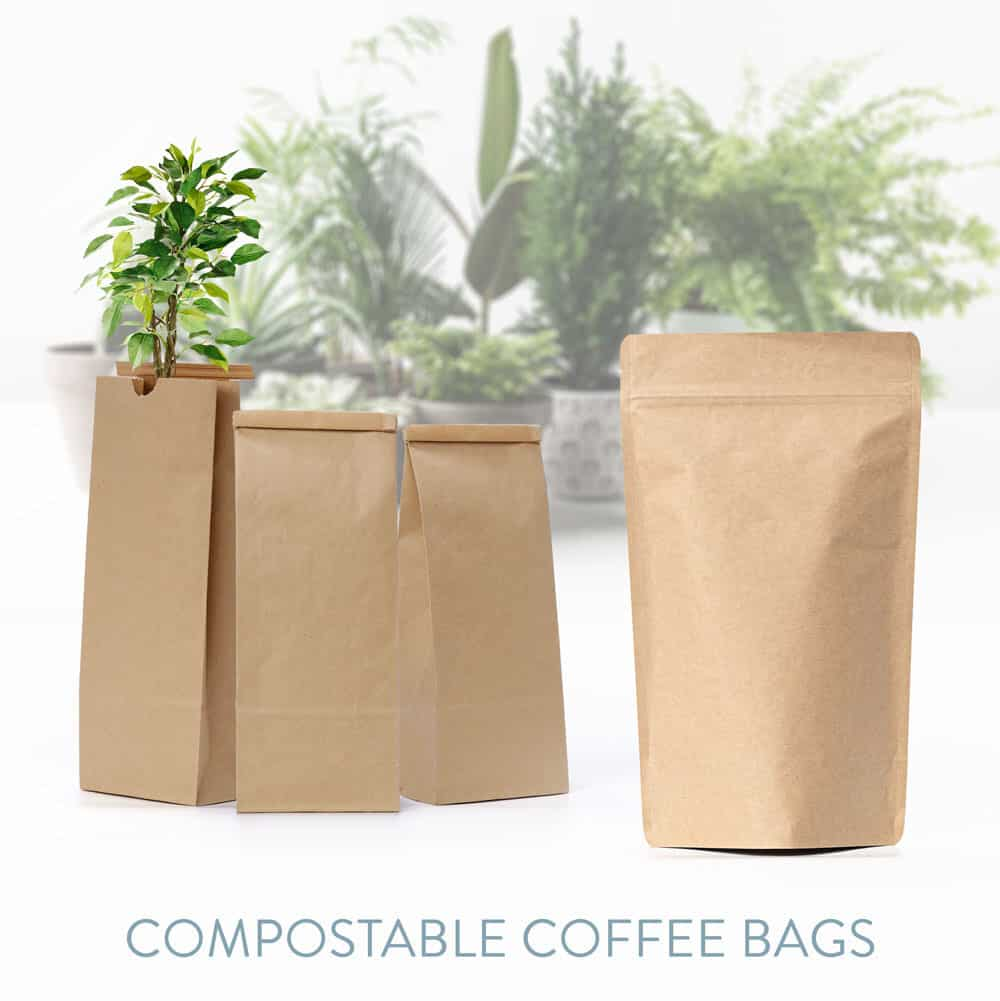 compostable coffee bags for wholesale retail sales